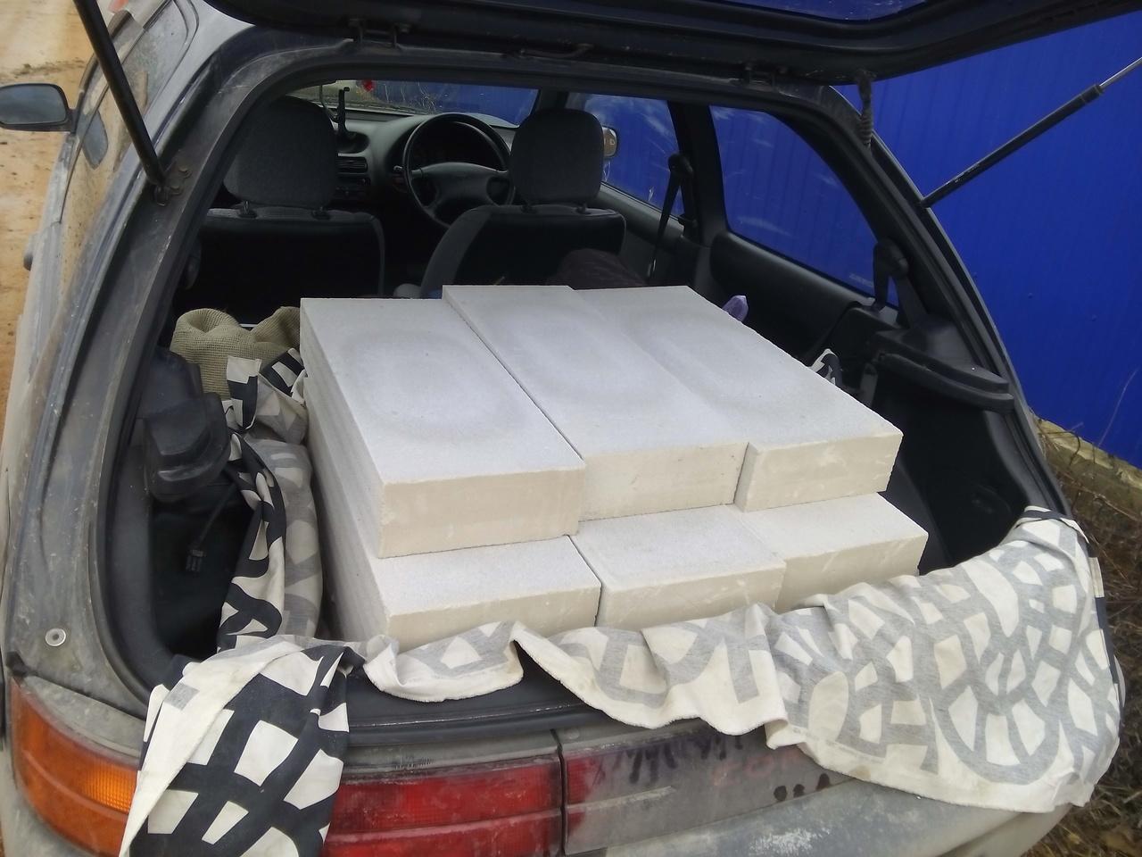 Блоки уложены в 5 рядов)