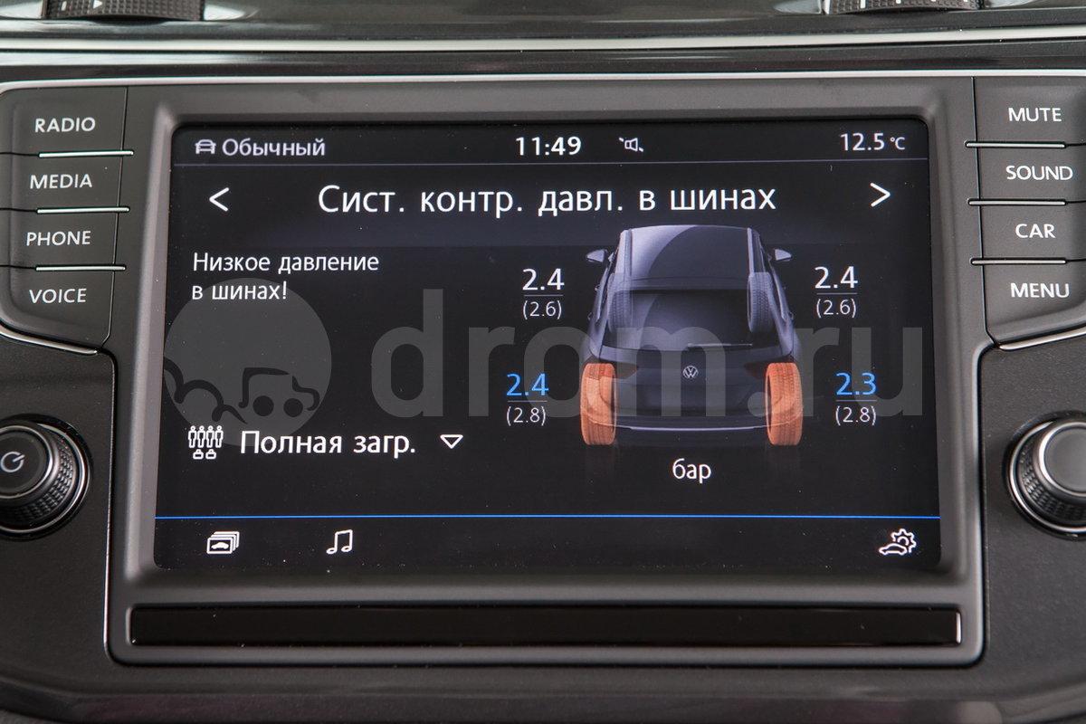 Индикатор падения давления в шинах: опция