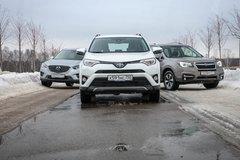 Сравнительный тест Mazda CX-5, Subaru Forester и Toyota RAV4. Бурлаки - «Автоновости»