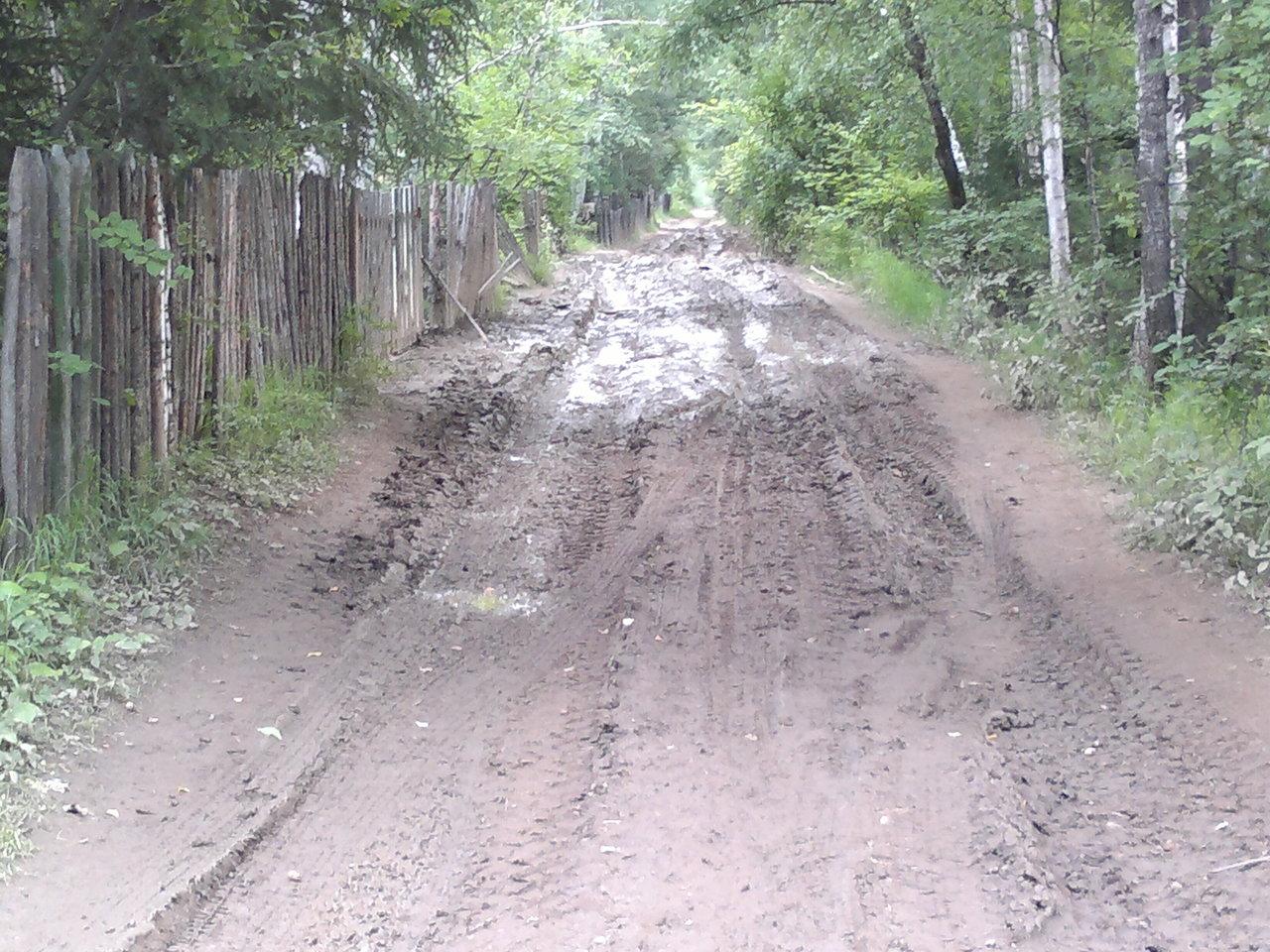 Дорога на дачу без затяжных дождей.