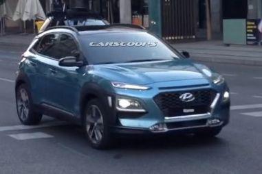 Появились новые фото кроссовера Hyundai Kona