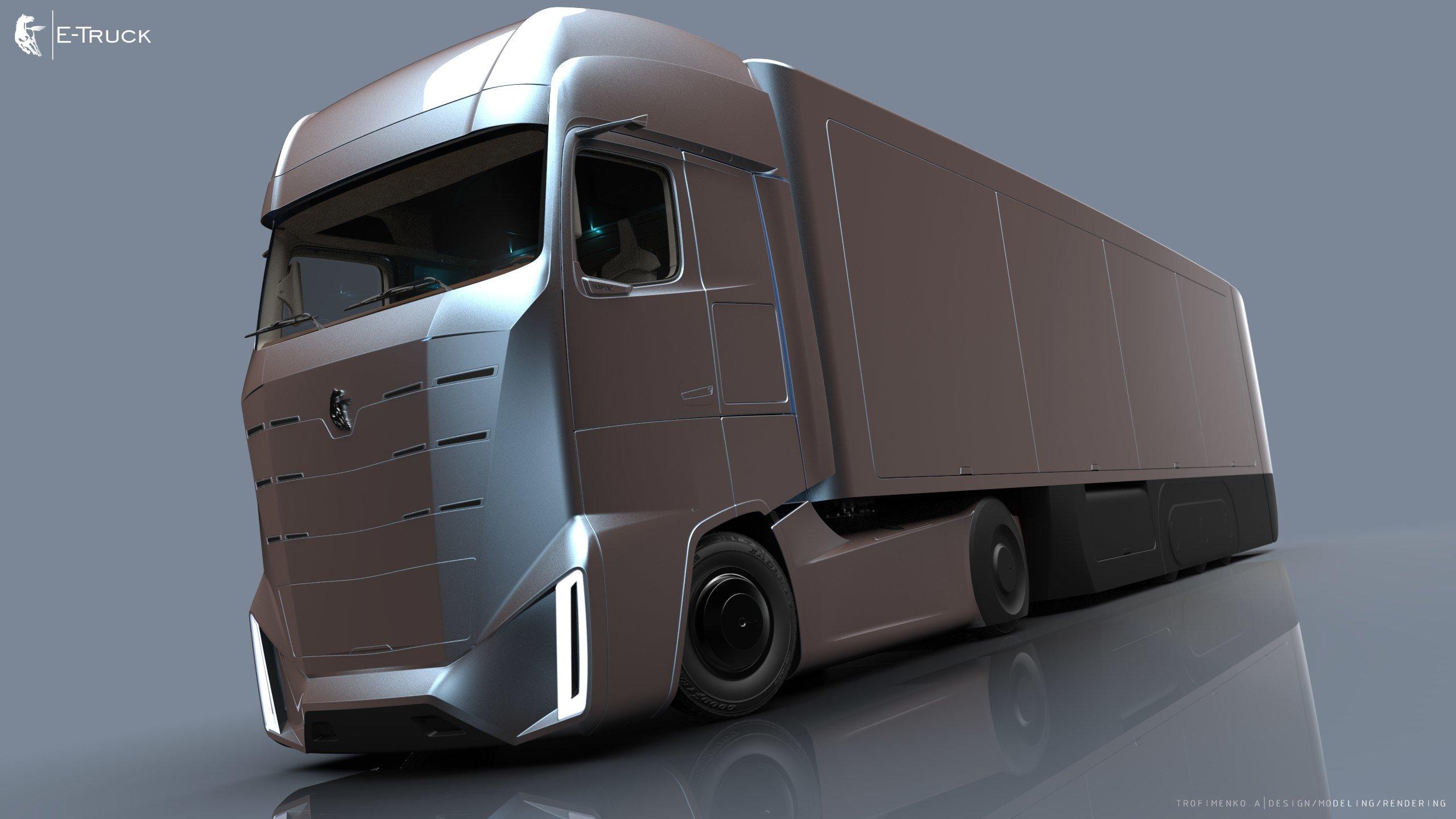 Студент-дизайнер в столице создал модель грузовика-оригами