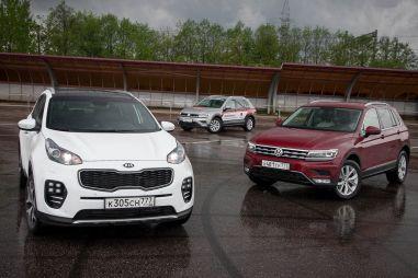 Бензин или дизель? VW Tiguan 2.0 TSI против 2.0 TDI и Kia Sportage 2.0 CRDi