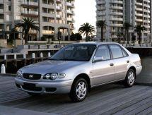 Toyota Corolla рестайлинг, 8 поколение, 01.1999 - 10.2001, Седан