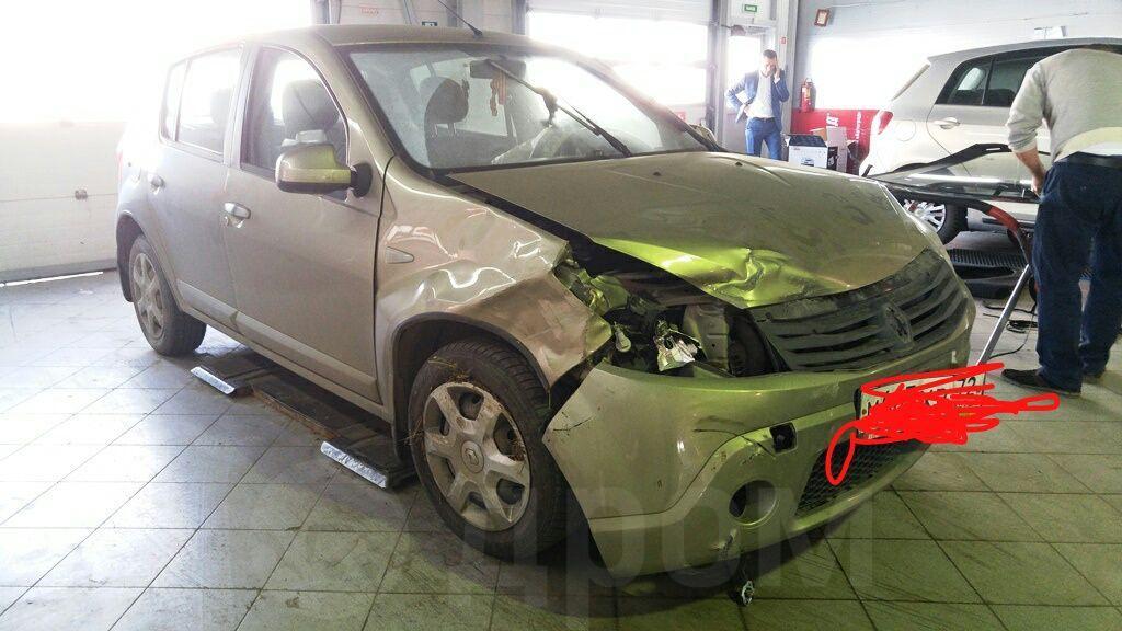 Брызговики передние Novline-Autofamily Renault Sandero 2010 - фото 8