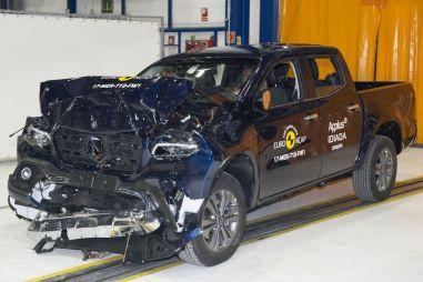 Европейские краш-тестеры испытали пикап Mercedes-Benz и перепроверили Honda Civic
