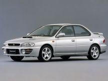 Subaru Impreza WRX рестайлинг 1996, седан, 1 поколение, GC