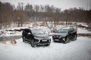 Сравнительный тест дизельных Toyota Fortuner и Mitsubishi Pajero Sport. Параллели и перпендикуляры