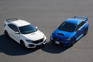 Битва на автотреке один на один: WRX STI против Civic Type-R