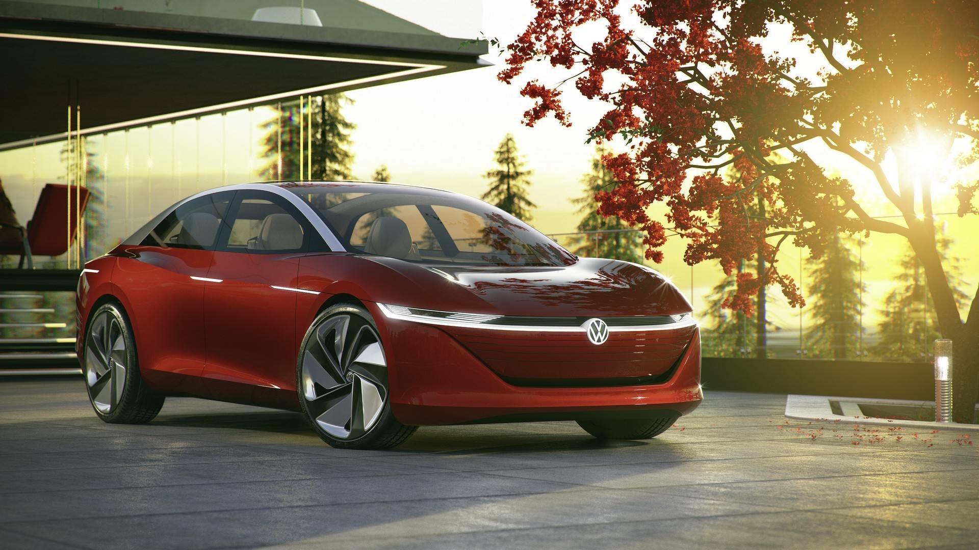 VW продемонстрировал электрический автономный седан I. D. Vizzion