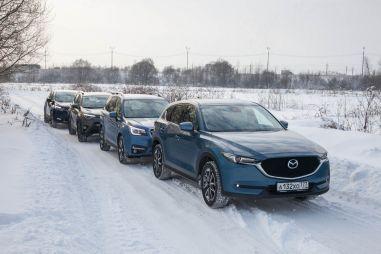 Сравнительный тест 2,0-литровых Honda CR-V, Mazda CX-5, Toyota RAV4 и Subaru Forester. Мелкая фасовка