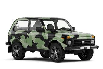Ранее камуфляжная окраска предлагалась только для лимитированной партии внедорожников Lada 4x4.