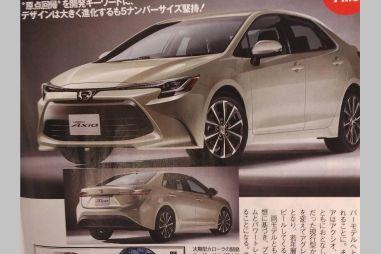 СМИ опубликовали первые фото новых Toyota Corolla Axio и Fielder