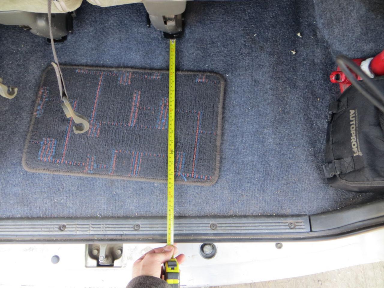 Глубина багажника с разложеным 3 рядом (~ 50 см)