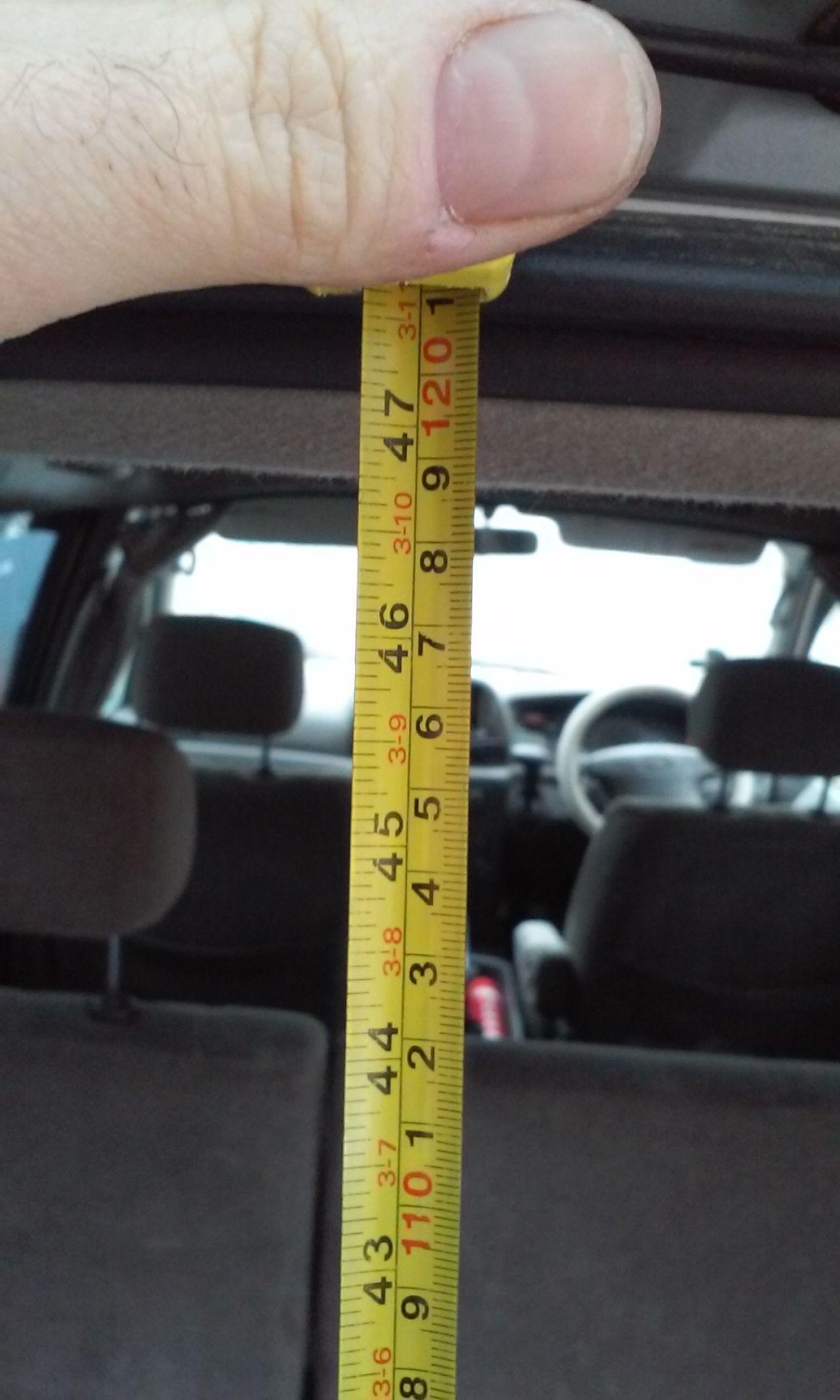 Высота багажника. Расстояние от пола до потолка.