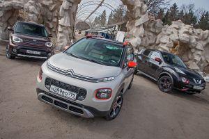 Антидастеры. Сравнительный тест Citroen C3 Aircross, Nissan Juke и KIA Soul