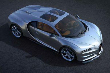 Для Bugatti Chiron разработали раздвоенную панорамную крышу
