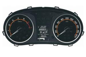 Появилось фото новой комбинации приборов рестайлинговой Lada Granta