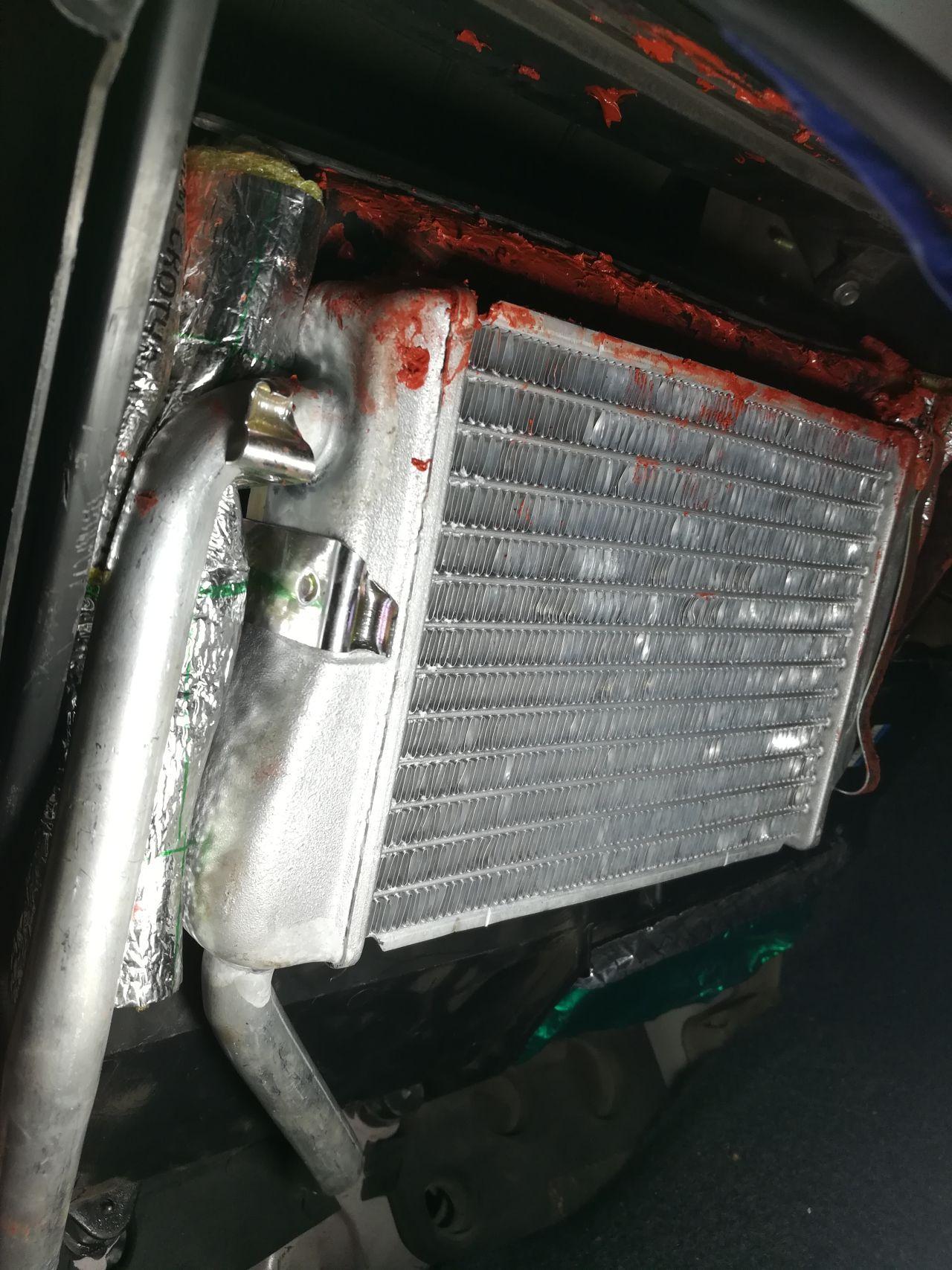 порядок установки радиатора печки опель астра 1999г