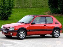 Peugeot 205 рестайлинг 1990, хэтчбек 3 дв., 1 поколение