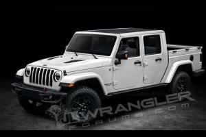 Jeep Wrangler с кузовом «пикап» представят в конце ноября