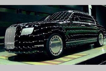 В видео показаны фрагменты разработки и производства седана Aurus Senat.