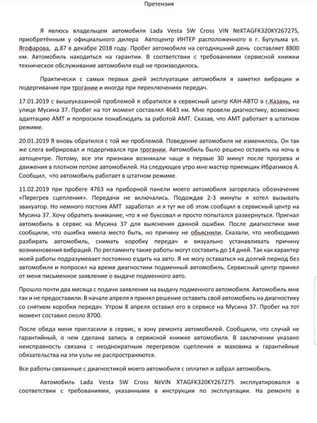 Лада Веста Кросс 2018 - отзыв владельца
