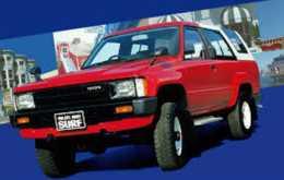 Красный Чикой Hilux Surf 1987