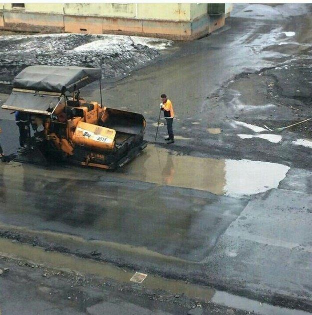 Российским дорожникам разрешат класть асфальт в мороз, снег и дождь