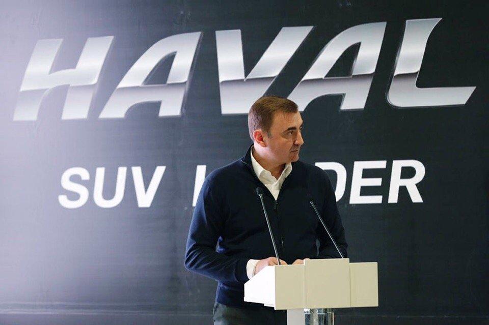 Готовящийся к запуску российский завод Haval «благословил» губернатор Тульской области