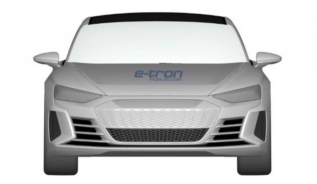 Патентные снимки электрического седана Audi E-tron GT попали в сеть