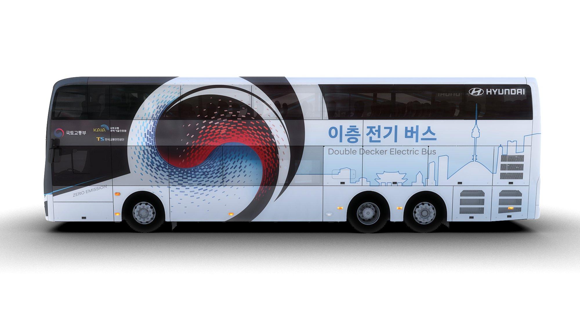 Hyundai представила двухэтажный электробус