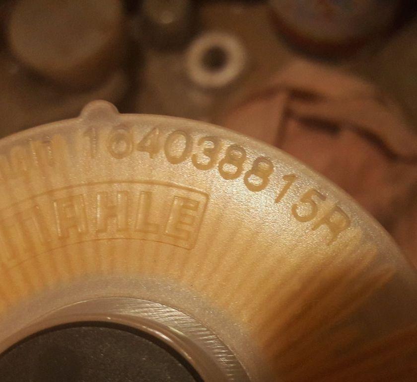 оригинальный фильтр от MAHLE  , маркировка рено   164038815R   стоит в среднем 1 т.р.