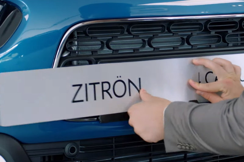 Citroen сменил имя на Zitron