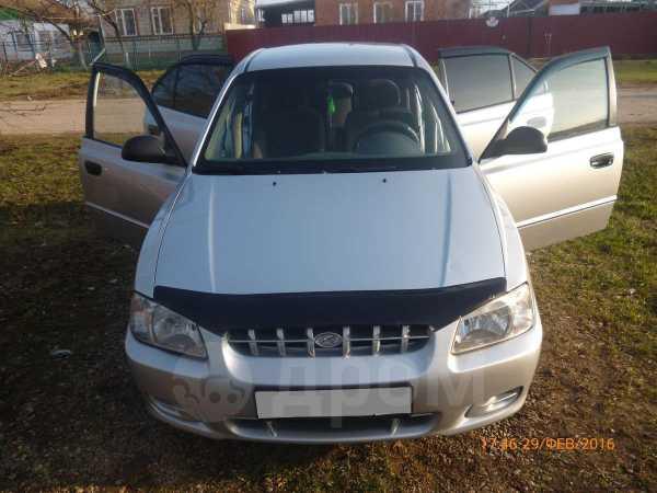 Hyundai Accent, 2002 год, 210 000 руб.