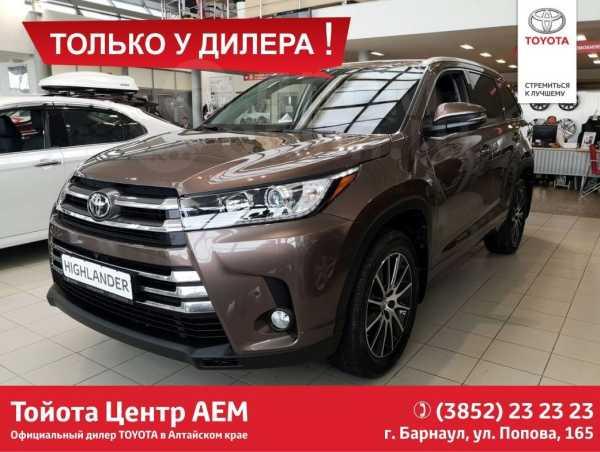 Toyota Highlander, 2018 год, 3 599 000 руб.