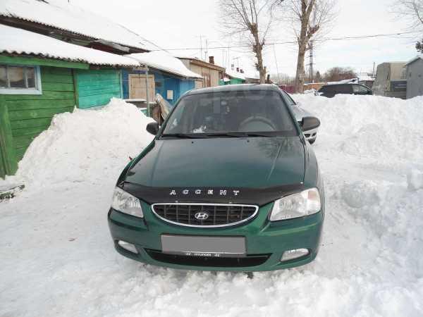 Hyundai Accent, 2002 год, 170 000 руб.