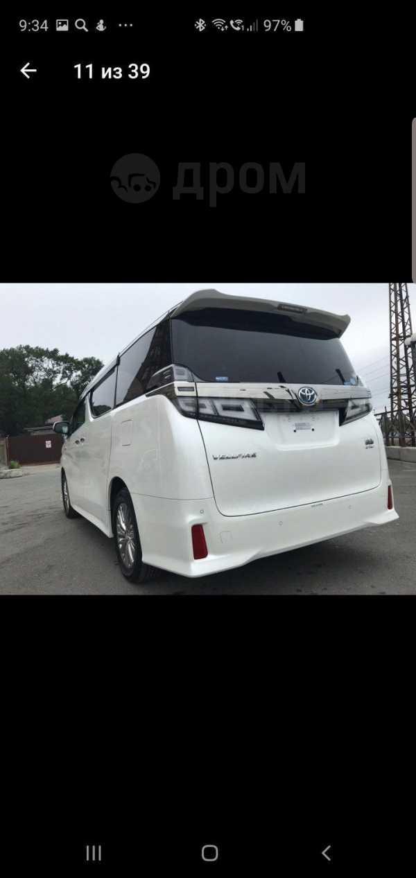 Toyota Vellfire, 2018 год, 3 780 000 руб.