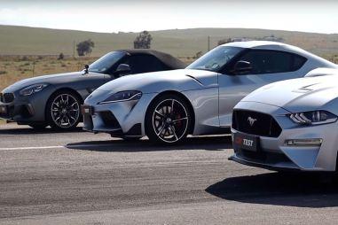 Автобаттл: Toyota GR Supra против BMW Z4 M40i и Ford Mustang GT. Кто быстрее? (ВИДЕО)