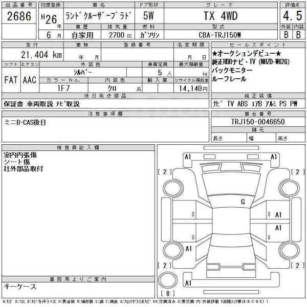 Toyota Land Cruiser Prado, 2014 год, 2 444 000 руб.