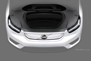 Volvo показала электронную приборную панель и багажник под капотом электрического XC40