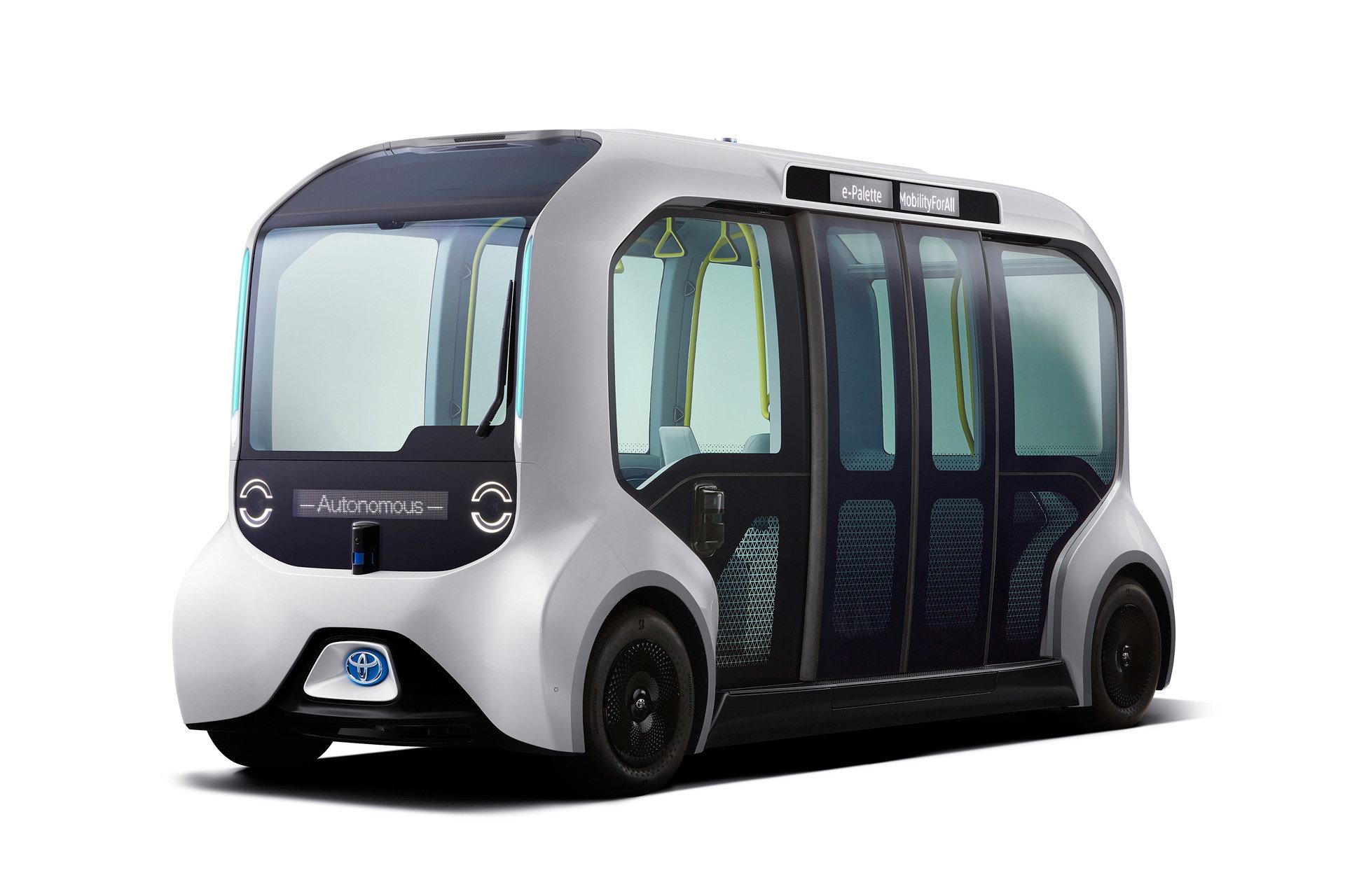 Toyota рассказала о своем электрическом беспилотнике e-Palette для Олимпийских игр в Токио