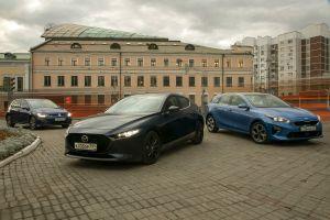 Сравнительный тест Kia Ceed, Mazda 3 и Volkswagen Golf. Чей синий лучше?