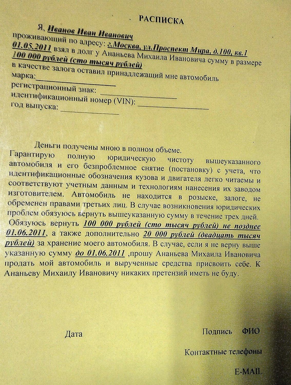 Как дать деньги под залог автомобиля купля продажа автосалон по продаже great wall в москве
