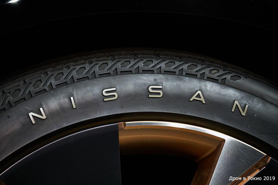 Резина на Nissan Ariya весьма самобытная.
