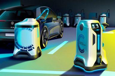 Volkswagen разработал робота-зарядника для электромобилей