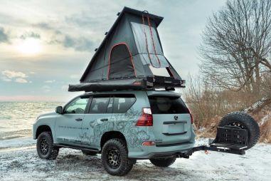 Подготовленный для кемпинга Lexus GX получил палатку на крыше