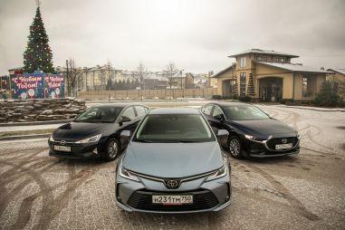 Hyundai Elantra, Mazda 3 и Toyota Corolla. Седаны гольф-класса: вымирающий вид