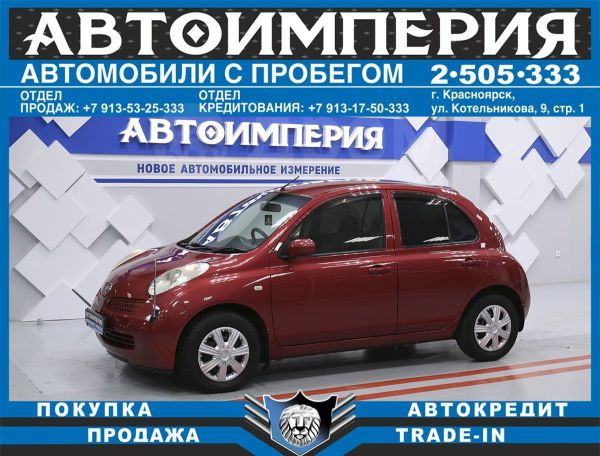 Nissan March, 2004 год, 258 000 руб.