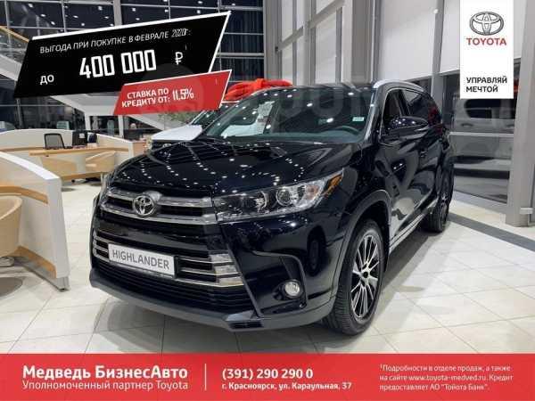 Toyota Highlander, 2019 год, 3 649 000 руб.